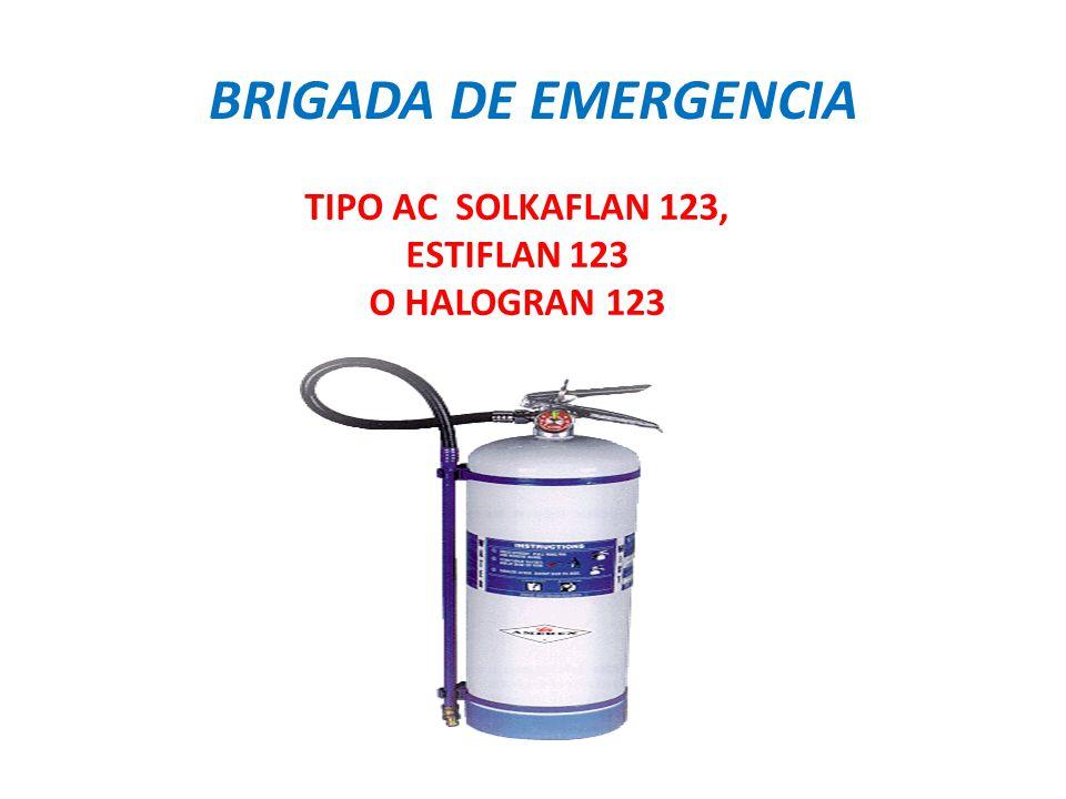TIPO AC SOLKAFLAN 123, ESTIFLAN 123