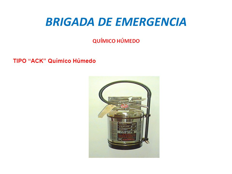 TIPO ACK Químico Húmedo