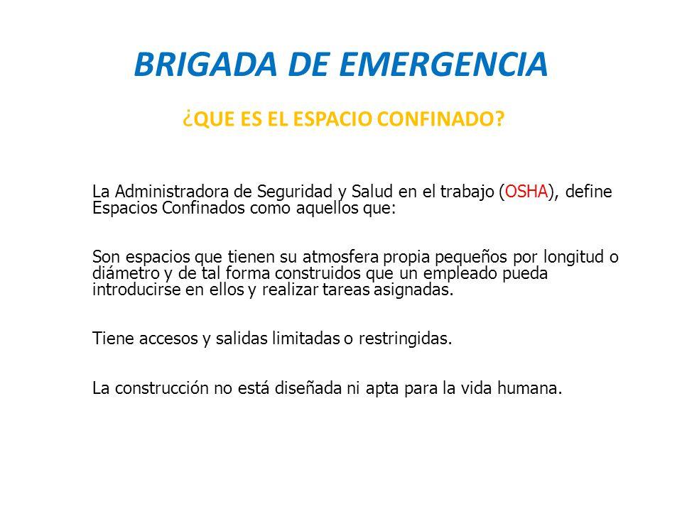 BRIGADA DE EMERGENCIA ¿QUE ES EL ESPACIO CONFINADO