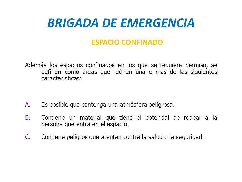 BRIGADA DE EMERGENCIA ESPACIO CONFINADO
