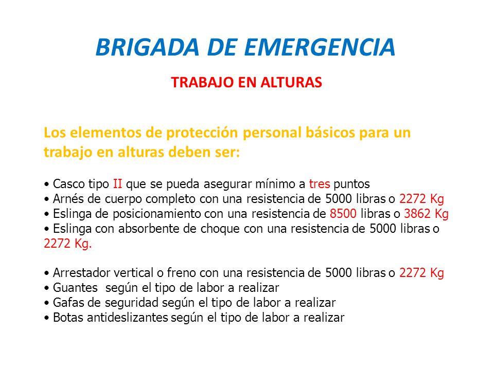 BRIGADA DE EMERGENCIA TRABAJO EN ALTURAS