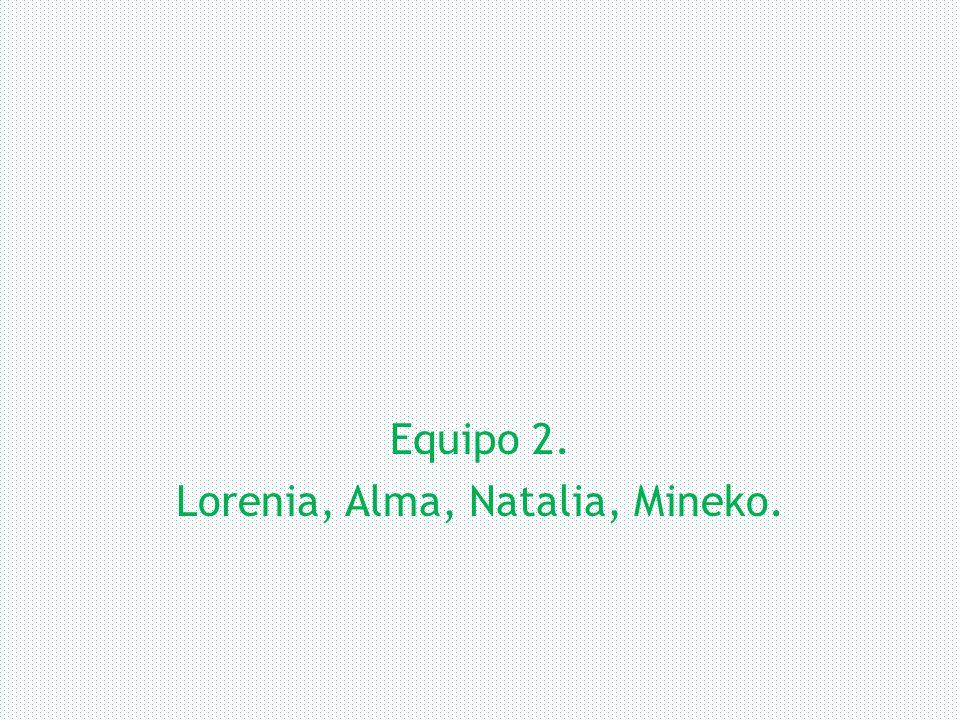 Equipo 2. Lorenia, Alma, Natalia, Mineko.