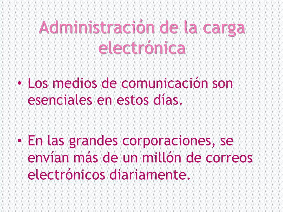Administración de la carga electrónica
