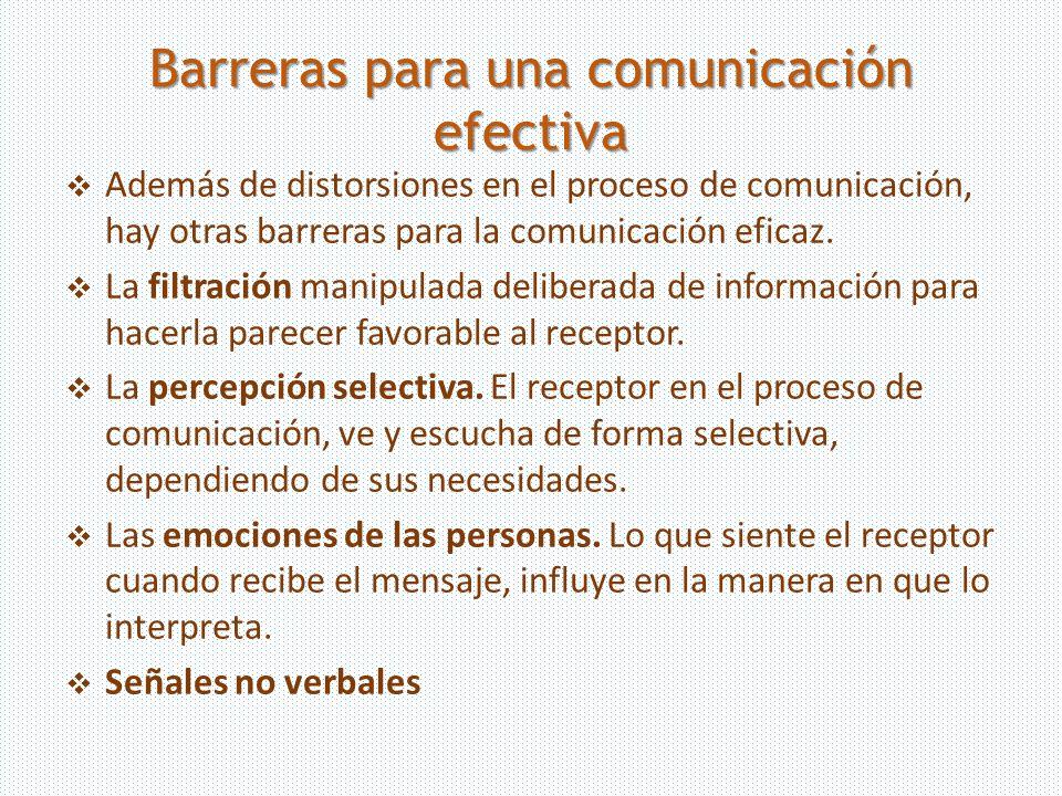 Barreras para una comunicación efectiva