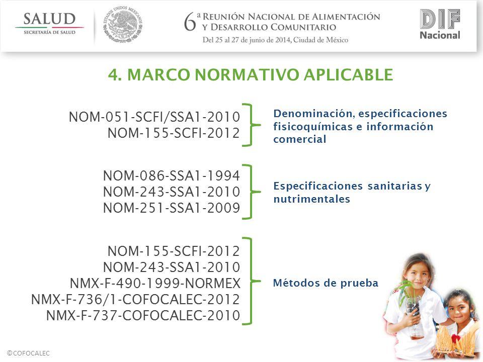4. MARCO NORMATIVO APLICABLE