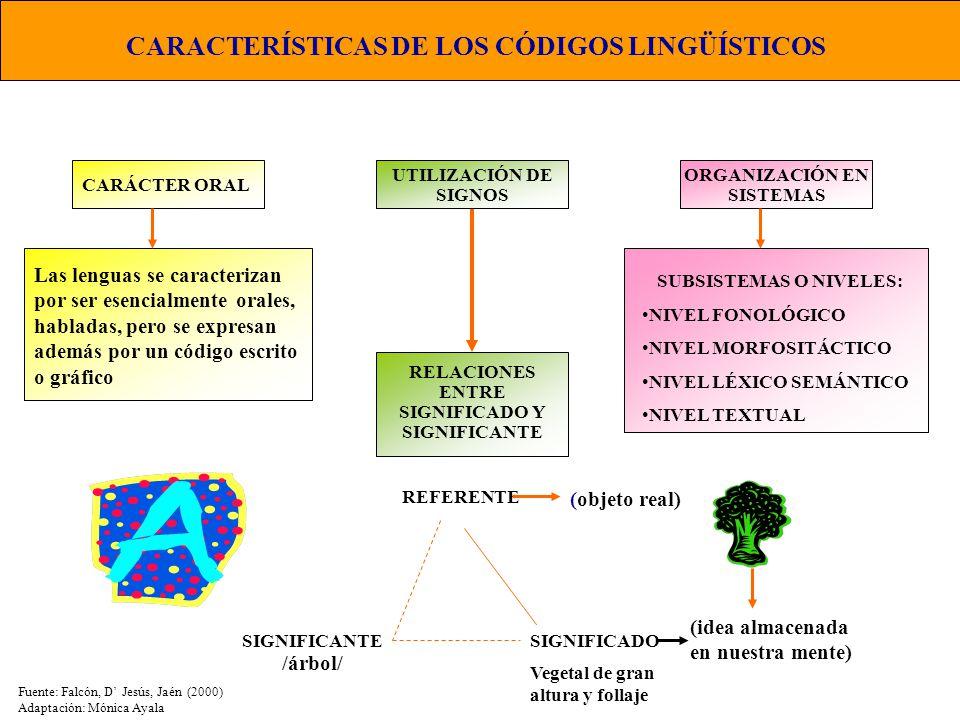 CARACTERÍSTICAS DE LOS CÓDIGOS LINGÜÍSTICOS