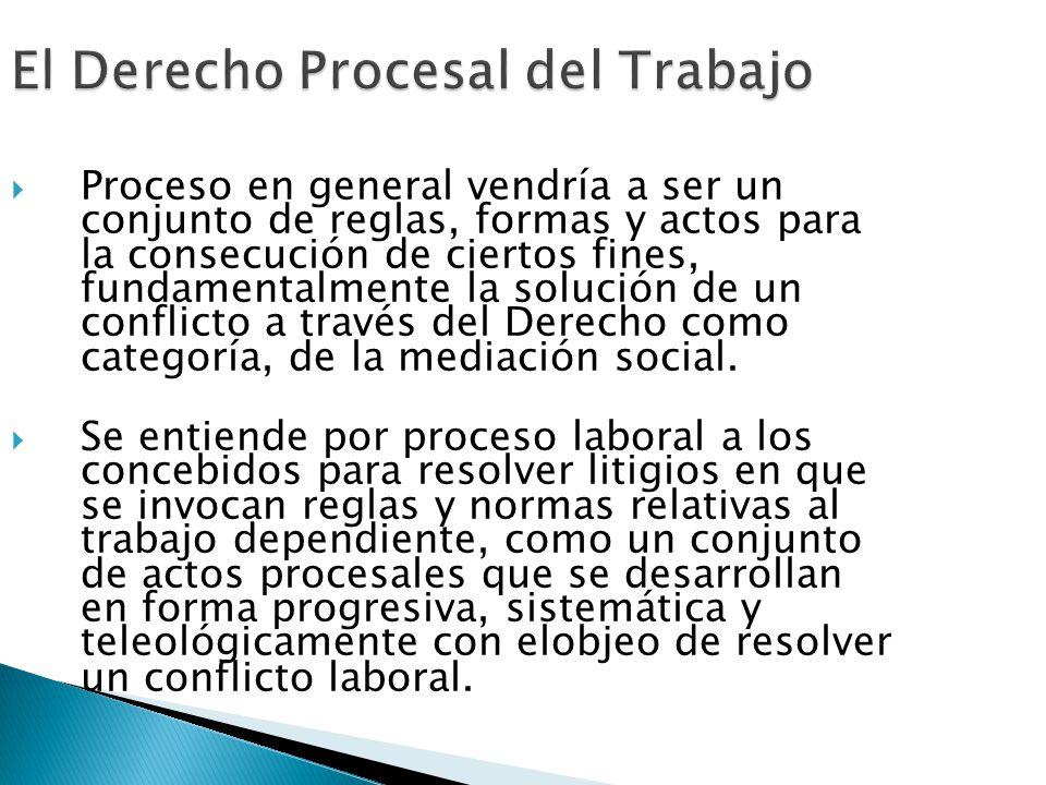 El Derecho Procesal del Trabajo