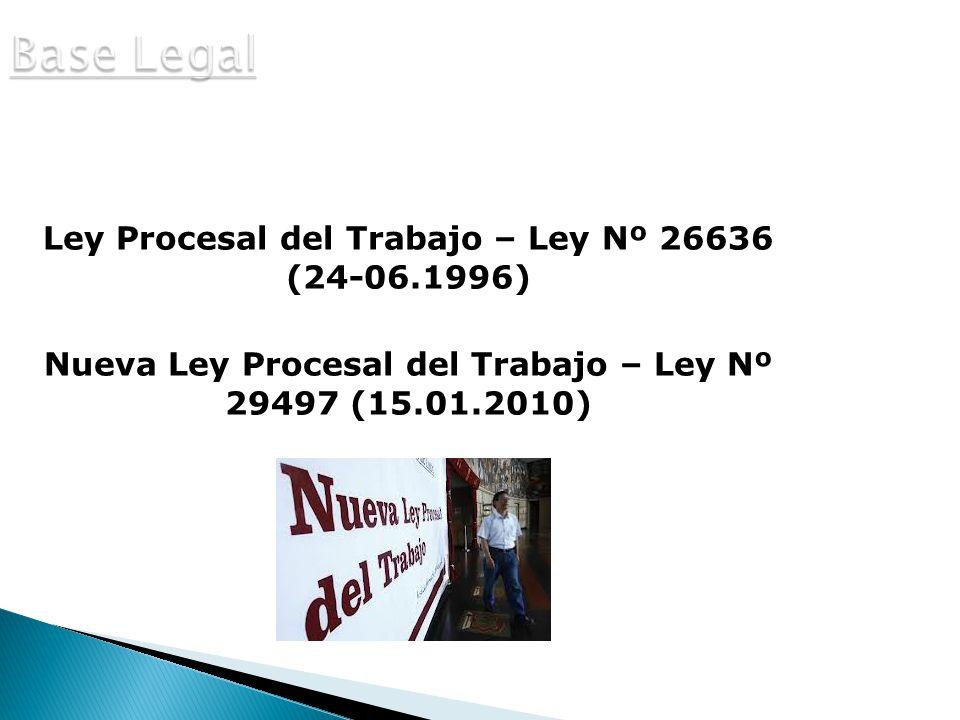 Base Legal Ley Procesal del Trabajo – Ley Nº 26636 (24-06.1996)