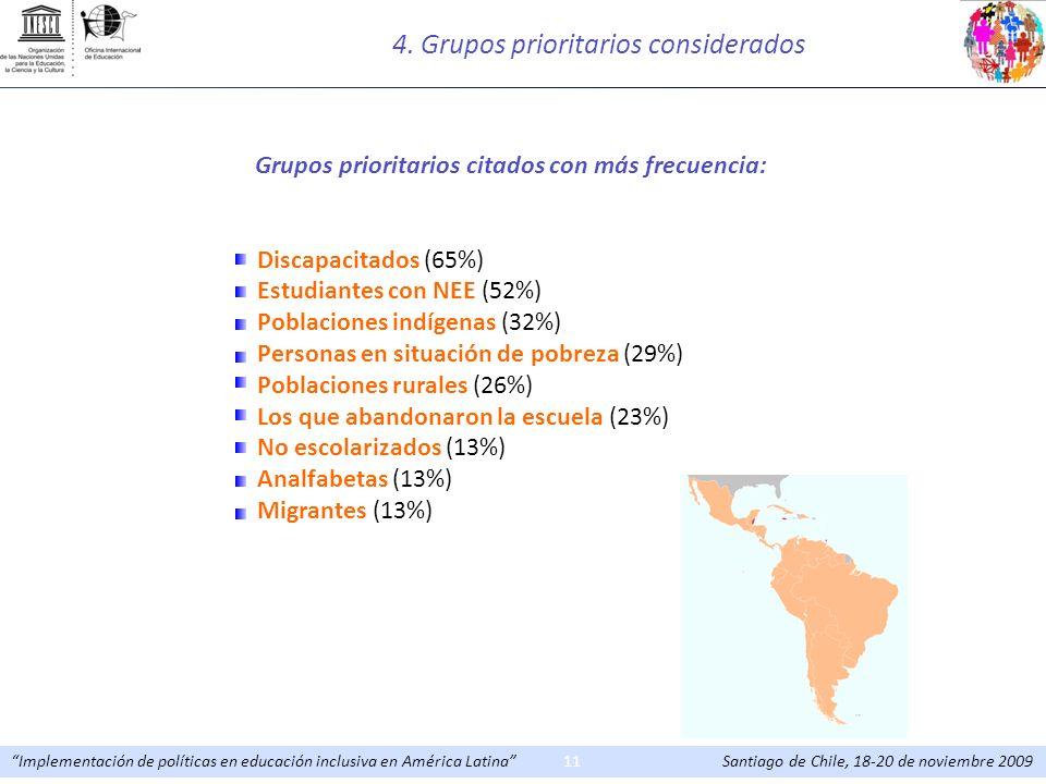4. Grupos prioritarios considerados