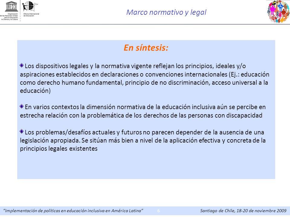Marco normativo y legal
