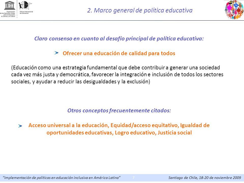 2. Marco general de política educativa