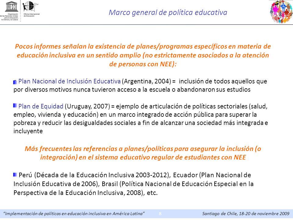 Marco general de política educativa