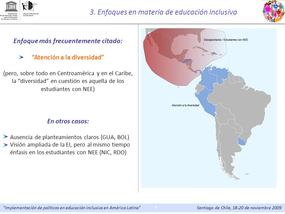 3. Enfoques en materia de educación inclusiva