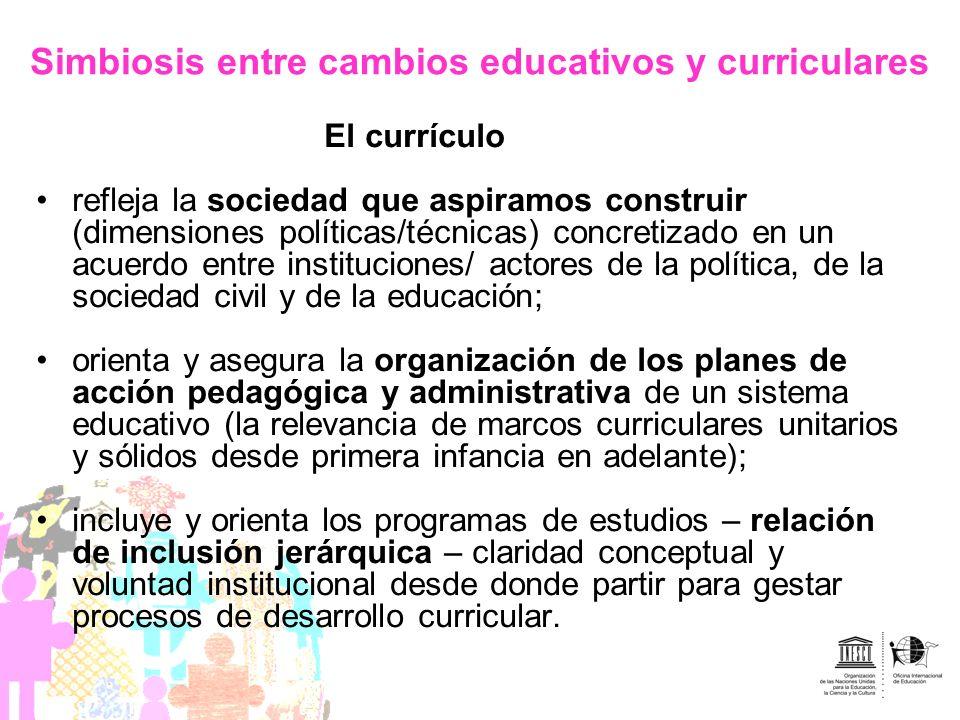 Simbiosis entre cambios educativos y curriculares