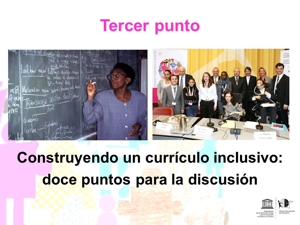 Tercer punto Construyendo un currículo inclusivo: doce puntos para la discusión