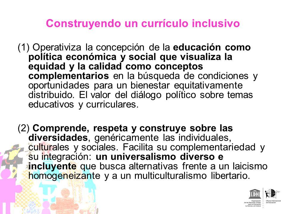 Construyendo un currículo inclusivo