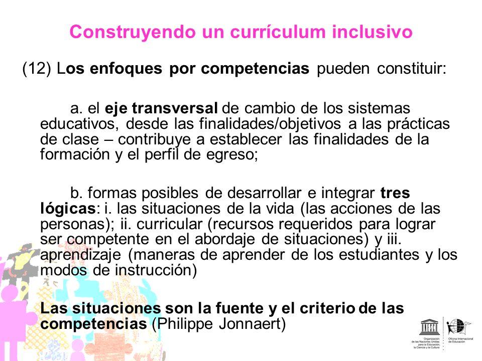 Construyendo un currículum inclusivo