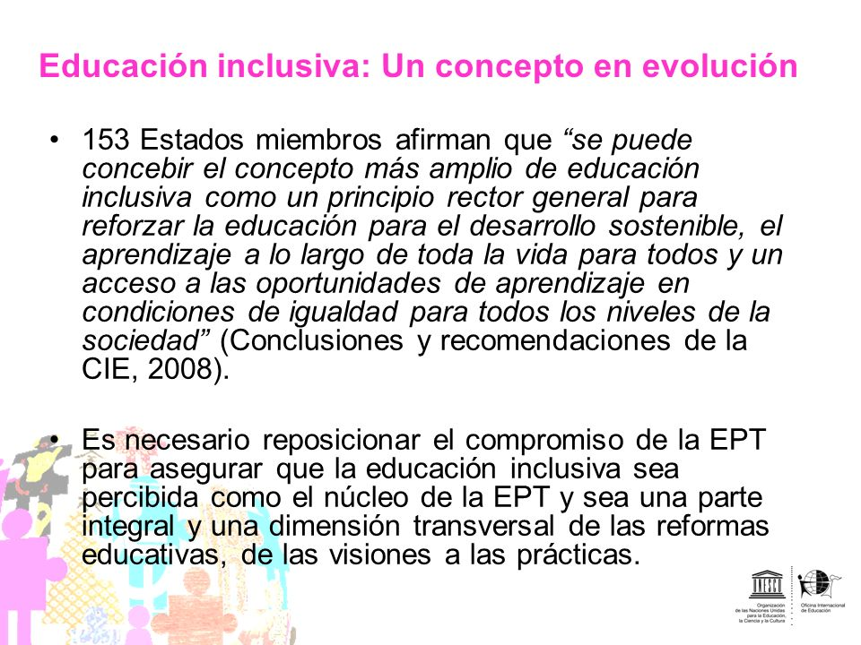 Educación inclusiva: Un concepto en evolución