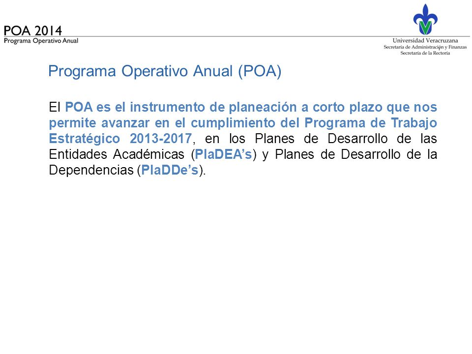 Programa Operativo Anual (POA)