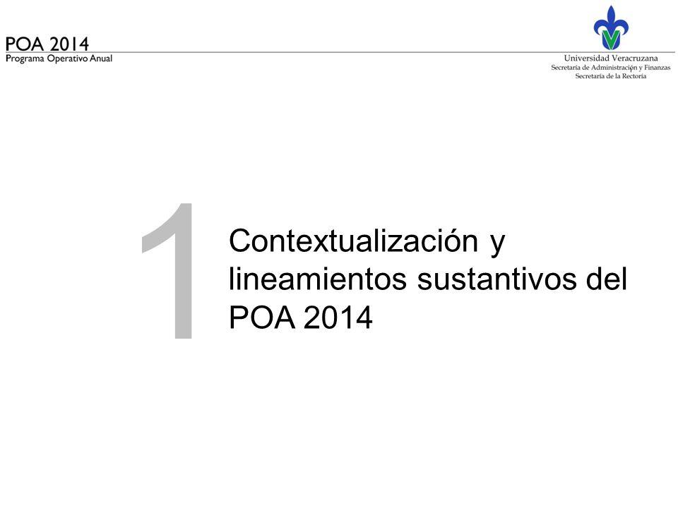 1 Contextualización y lineamientos sustantivos del POA 2014