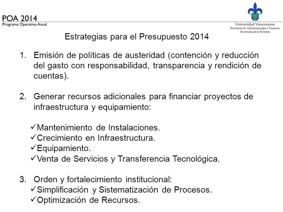 Estrategias para el Presupuesto 2014