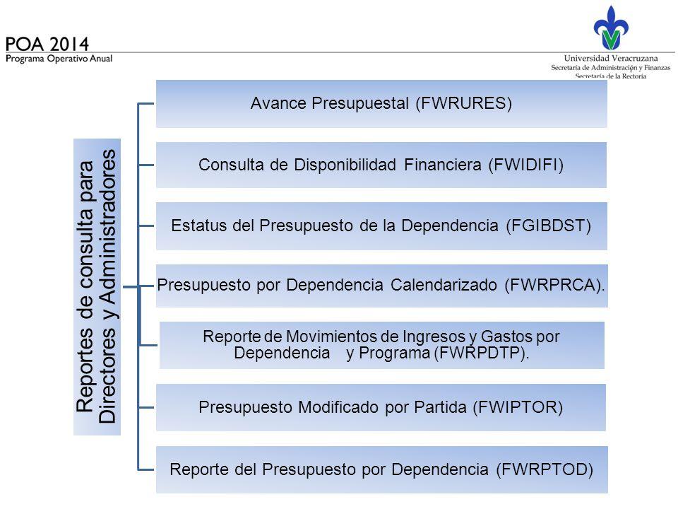 Avance Presupuestal (FWRURES)