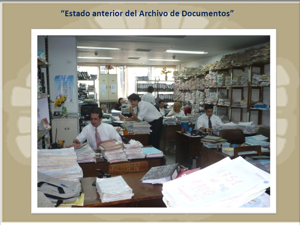 Estado anterior del Archivo de Documentos