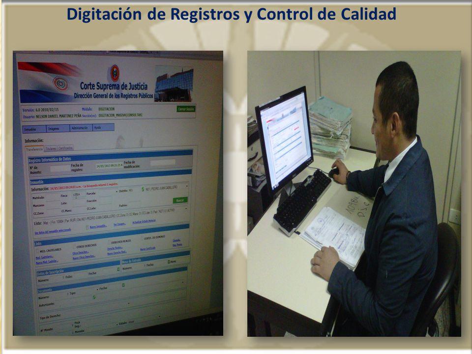 Digitación de Registros y Control de Calidad