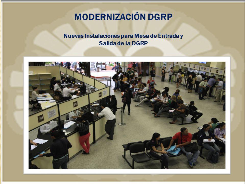 Nuevas Instalaciones para Mesa de Entrada y Salida de la DGRP