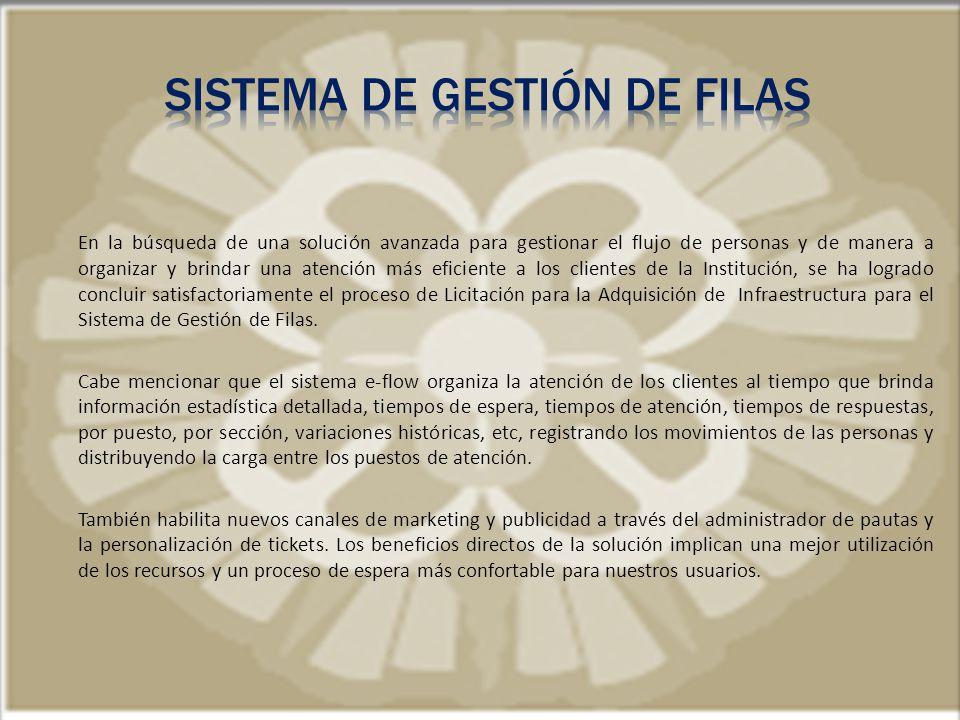SISTEMA DE GESTIóN DE FILAS