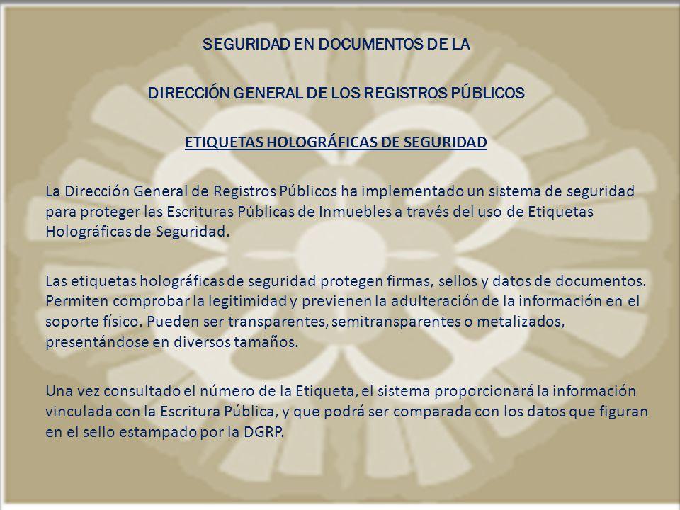 ETIQUETAS HOLOGRÁFICAS DE SEGURIDAD