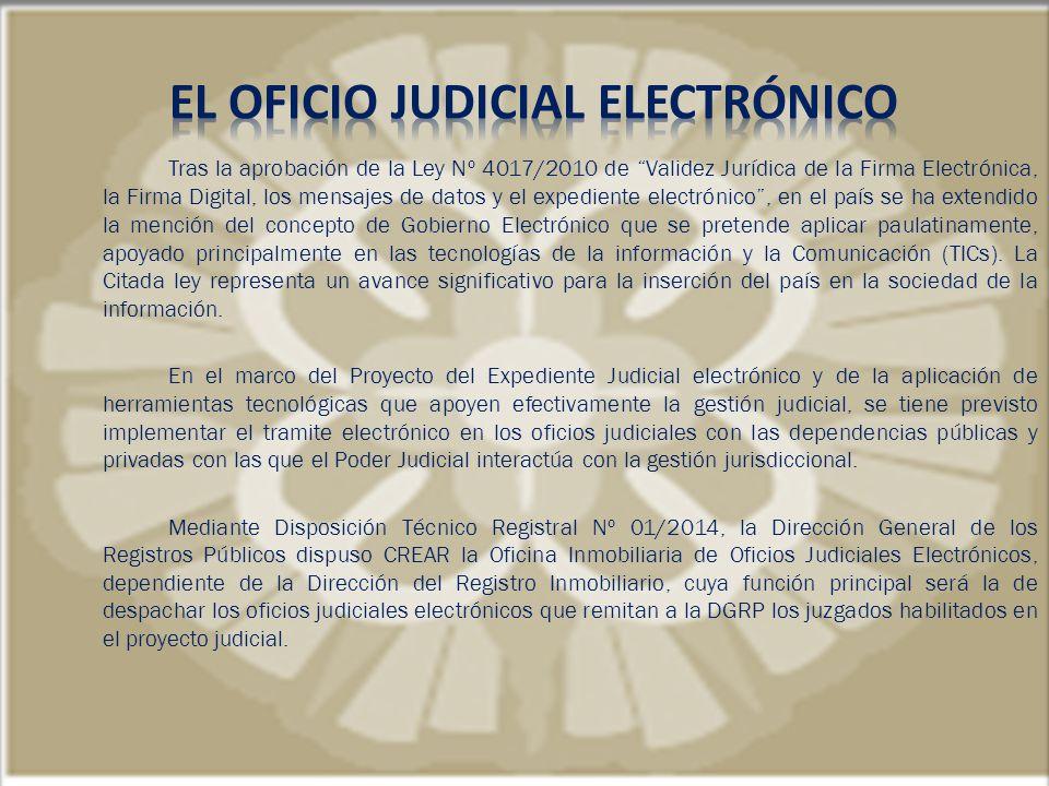 EL OFICIO JUDICIAL ELECTRÓNICO