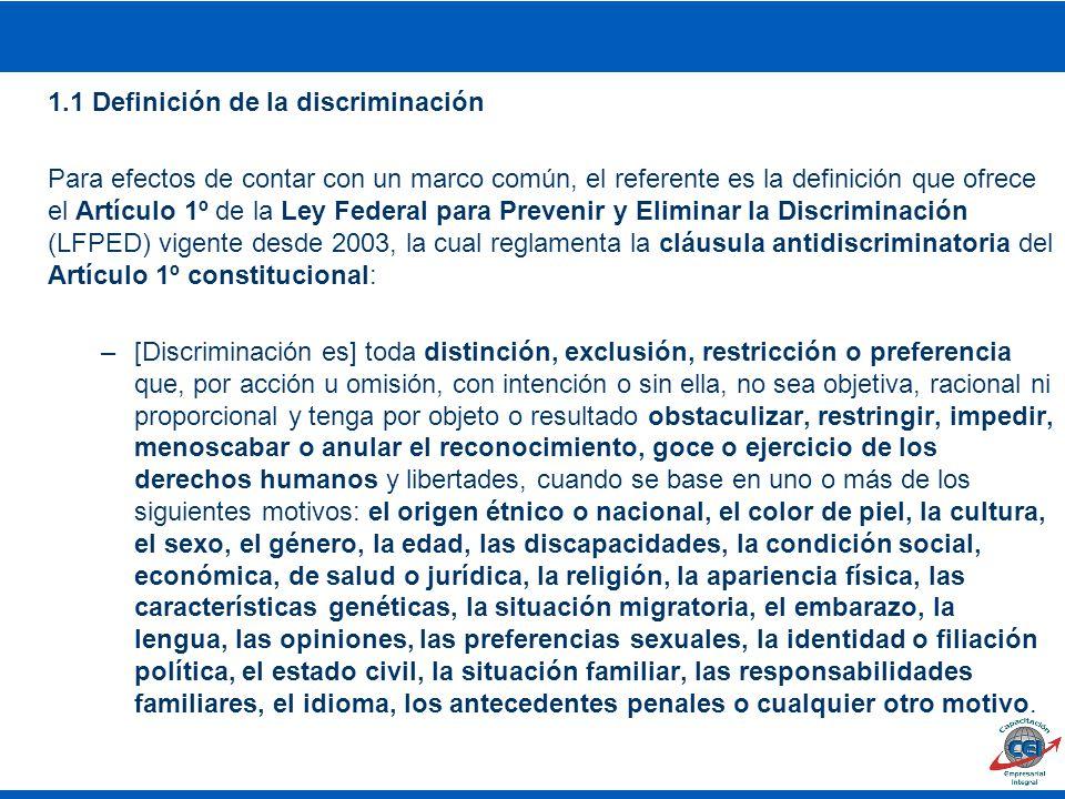 1.1 Definición de la discriminación