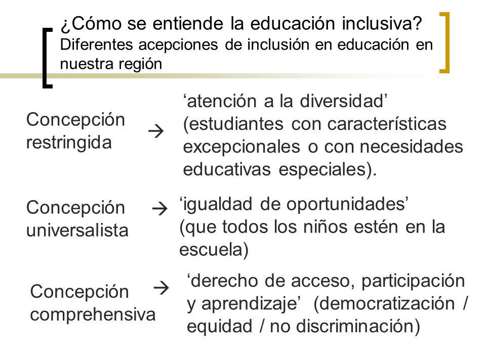 ¿Cómo se entiende la educación inclusiva