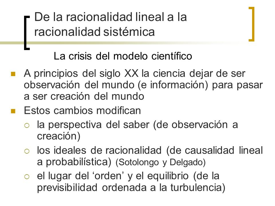 La crisis del modelo científico