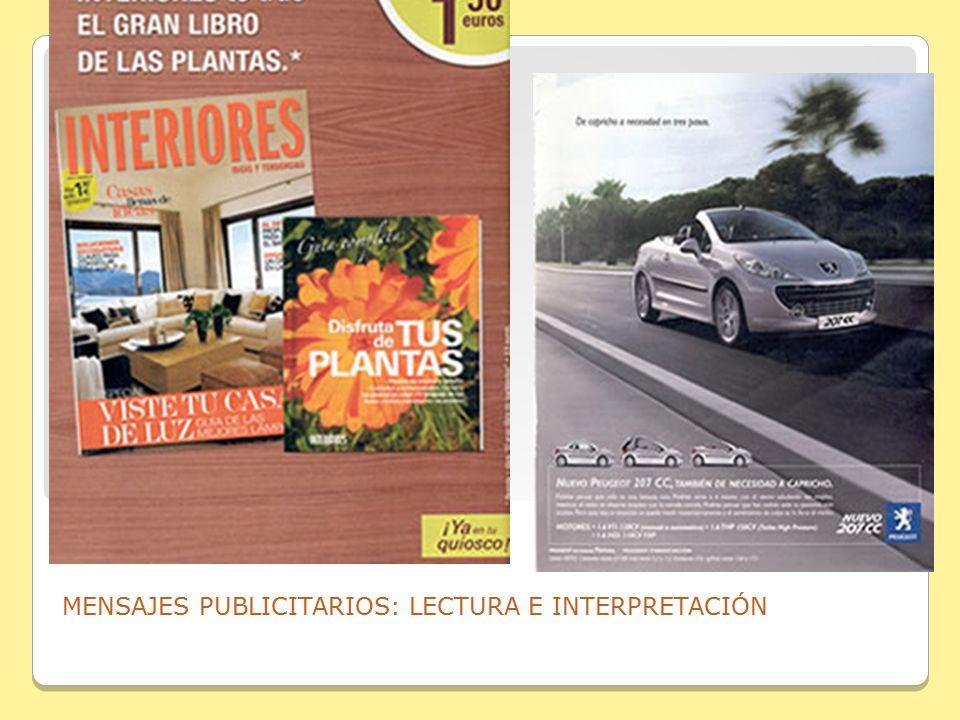 MENSAJES PUBLICITARIOS: LECTURA E INTERPRETACIÓN