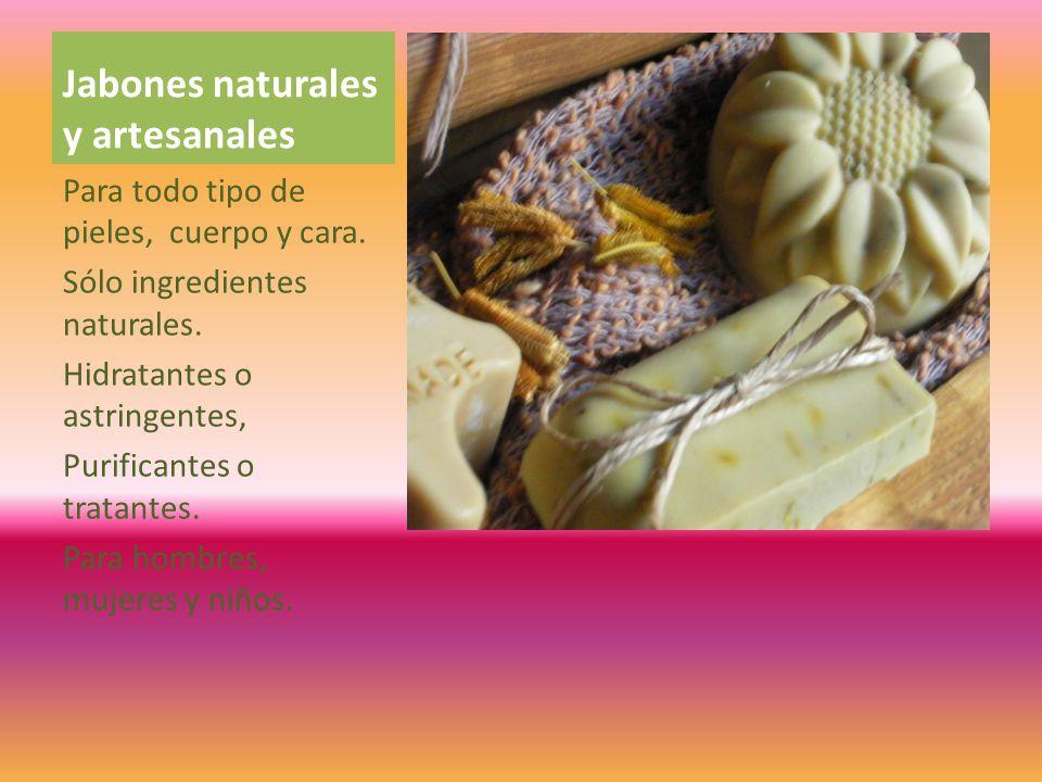 Jabones naturales y artesanales