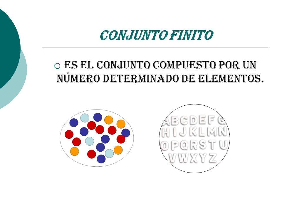 Es el conjunto compuesto por un número determinado de elementos.