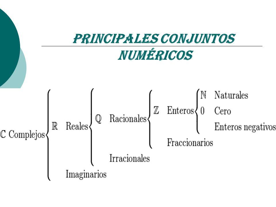 Principales Conjuntos Numéricos