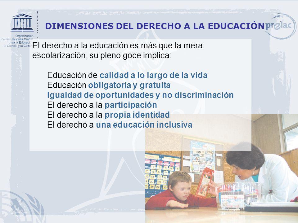 DIMENSIONES DEL DERECHO A LA EDUCACIÓN