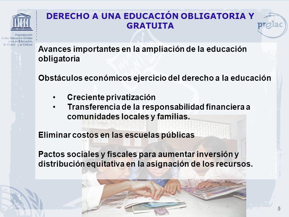 DERECHO A UNA EDUCACIÓN OBLIGATORIA Y GRATUITA