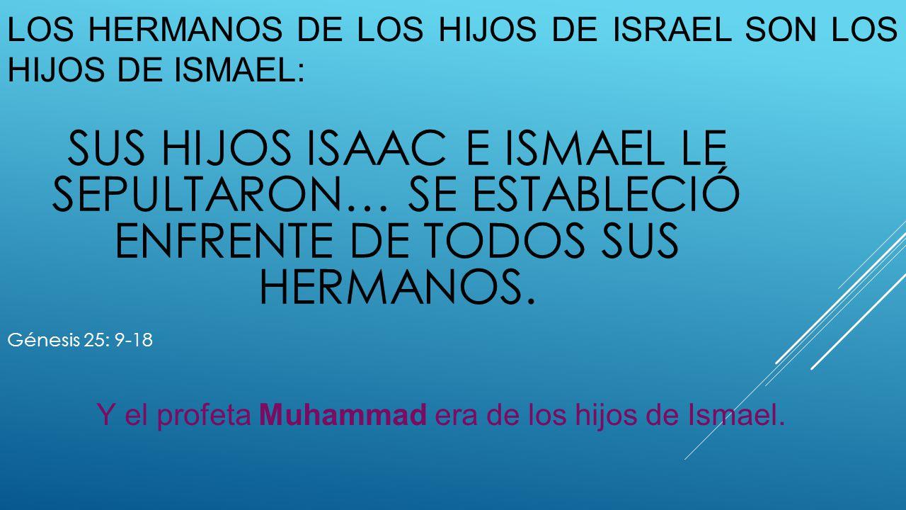 Los hermanos de los hijos de Israel son los hijos de Ismael: