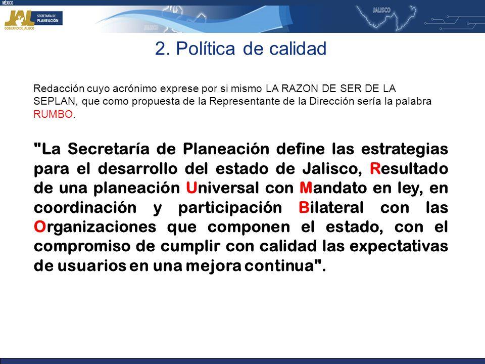 2. Política de calidad