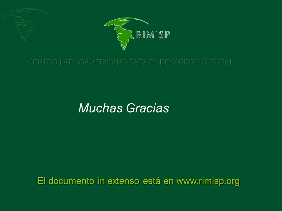 El documento in extenso está en www.rimisp.org