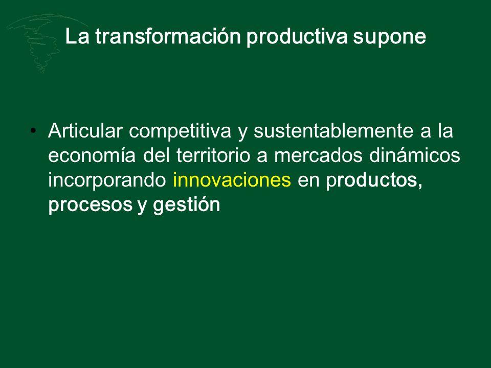La transformación productiva supone