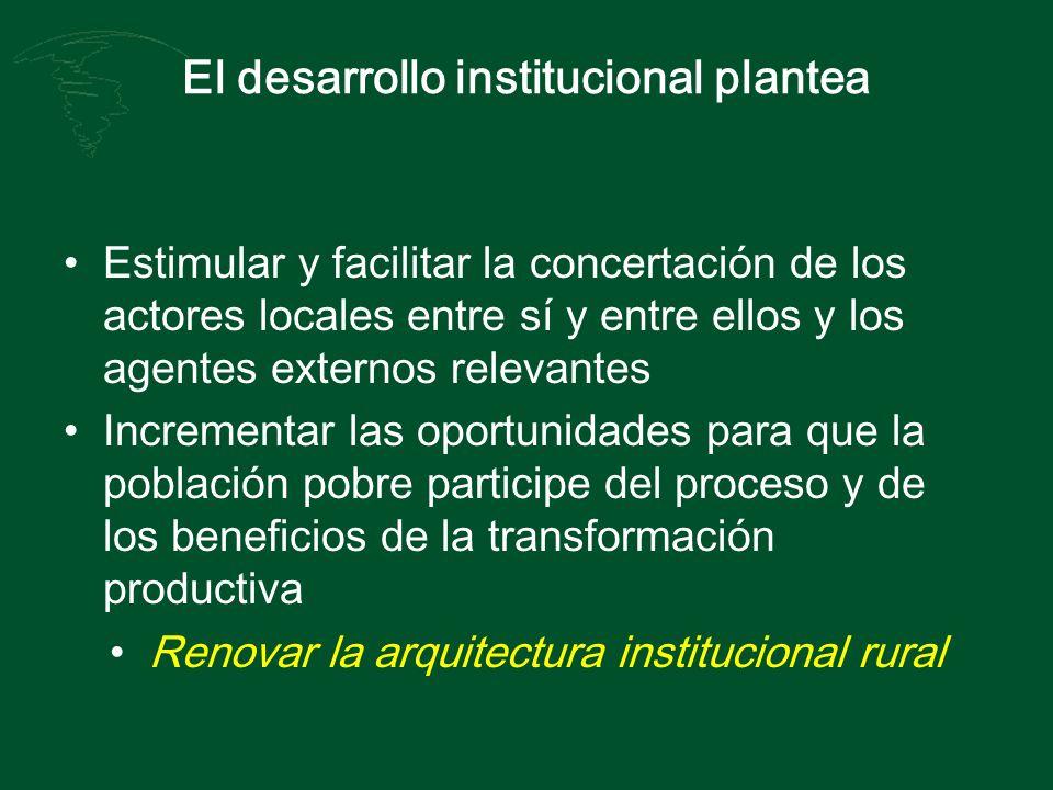 El desarrollo institucional plantea
