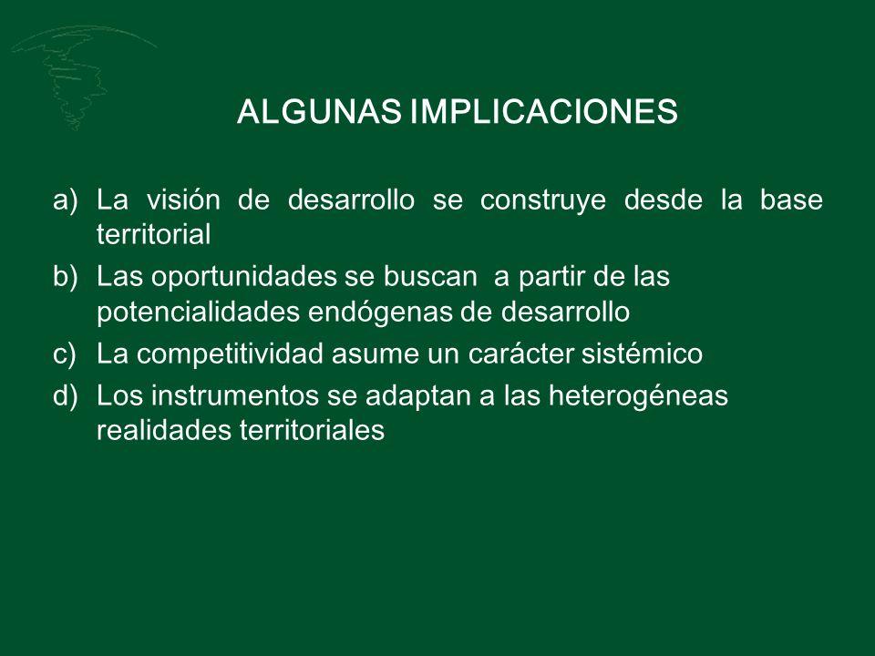 ALGUNAS IMPLICACIONES