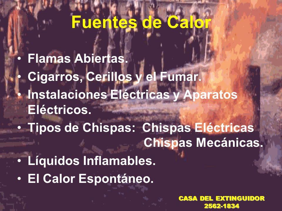 Fuentes de Calor Flamas Abiertas. Cigarros, Cerillos y el Fumar.