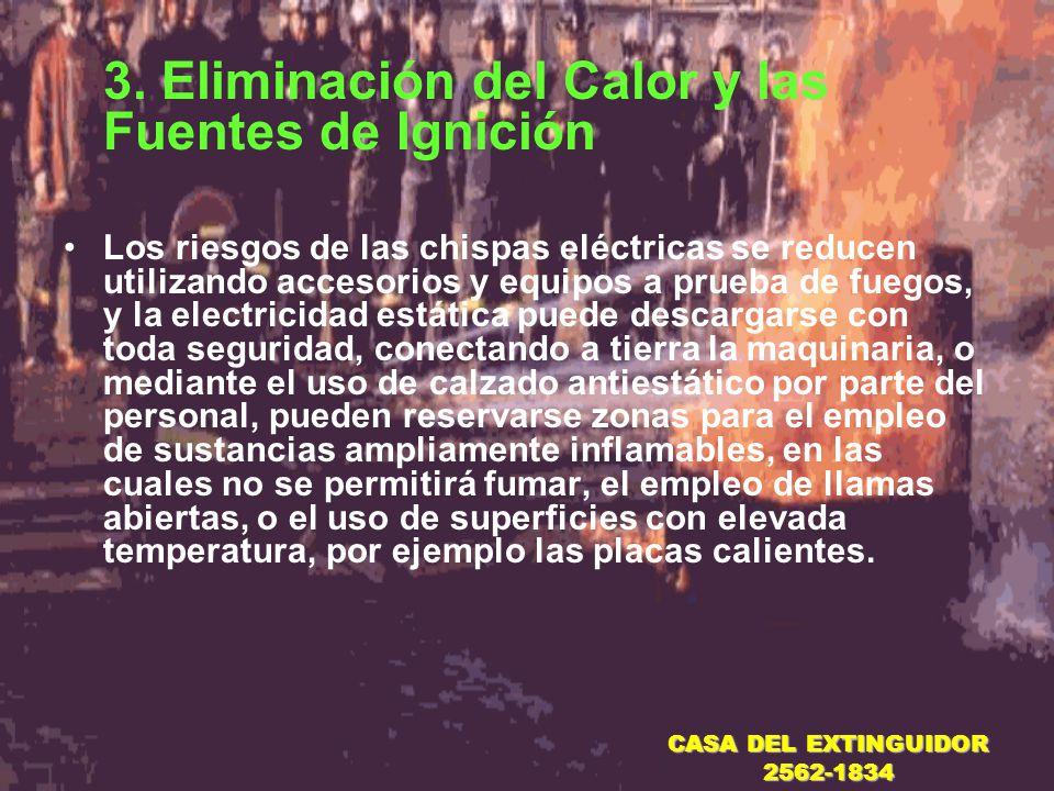 3. Eliminación del Calor y las Fuentes de Ignición