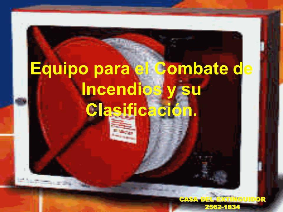 Equipo para el Combate de Incendios y su Clasificación.